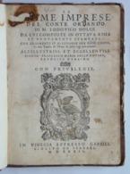 Lodovico Dolce Le Prime Imprese Del Conte Orlando Apresso Gabriel Giolito De Ferrari Venice 1572. Italia RARA Book Books - Libri, Riviste, Fumetti