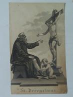 Holy Card 36 Santini Heilgenbild Holycard Images Pieuse Religieuse Image Epinal 1850 St. Peregrinus Peregrin - Santini