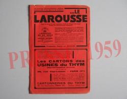 Presse 1959 Publicité Les Cartons Des Usines Du Thym à Moutier-Rozeille Cartonneries 38 Rue Gay-Lussac Paris229CH11 - Non Classés