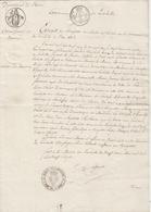 RARE - Leschelle - 1827 - Extrait Registre Des Décès Signé Comte De Cafarelli (maire) -2 Scans - Documentos Históricos