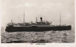 Transport Ships Postcard Sea Ocean Boat Mv Dorsetshire - Altri