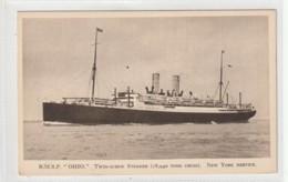 Transport Ships Postcard Sea Ocean Boat Rmsp Ohio - Altri