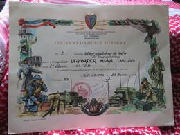 """CERTIFICAT D'APTITUDE TECHNIQUE""""transmissions Des Forces Françaises D'Allemagne""""Bataillon""""1955""""LEGUYADER""""miltaire""""soldat - Diplomas Y Calificaciones Escolares"""