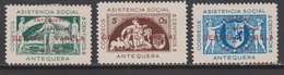 1937 ANTEQUERA ASISTENCIA SOCIAL SOBRECARGA GENERAL VARELA SERIE*. VER. - Verschlussmarken Bürgerkrieg