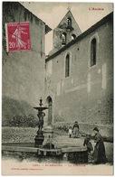 CPA Saint-Amadoux 09. La Fontaine. Animée, 1936 - Frankreich
