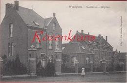 Wijnegem Wyneghem Gasthuis Hopital Geanimeerd ZELDZAAM Uitg De Blende Borgerhout TOPKAART (zeer Goede Staat) - Wijnegem