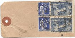 N°388X2+365X2 AU VERSO ETIQUETTE LABORATOIRE R GALLIER PARIS 1938 - Tarifas Postales