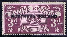 Ireland Excise Revenue 1924 Block Cypher 3d Purple NORTHERN IRELAND Ovpt - Steuermarken