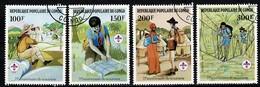 Congo 1982 Yv 663/66 - Scoutisme -  Obl./used - Oblitérés