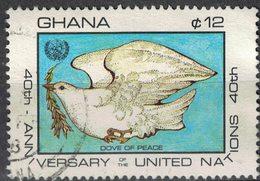 Ghana 1985 Oblitéré Used 40 Ans Nations Unies Dove Of Peace Colombe De La Paix SU - Ghana (1957-...)