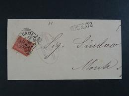 """31 ITALIA Regno Storia Postale -1866- """"T 15 Cifra"""" C. 2 CAMERINO>MONTEGIORGIO (descrizione) - Storia Postale"""