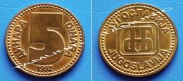 YUGOSLAVIA JUGOSLAVIJA 5 Dinara 1992 - Yugoslavia