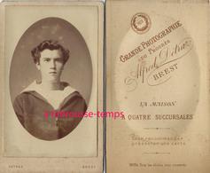 CDV En 1878 Jeune Marin- Photo Detraz à Brest - Fotos