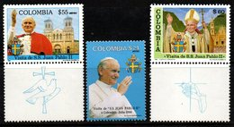 B064B-COLOMBIA- 1986 -MNH- MI#: 1678-1679 - BACH AND HAENDEL - MUSIC - Kolumbien