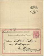 1904  Correspondenz-Kart Mit Bezahlter Antwort  Komplett Von Canea (Chania-Kreta) Nach La Haye, Holland  Michel: 55 Euro - Levant Autrichien