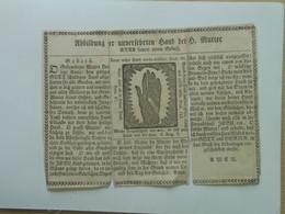 Holy Card 67 Santini Heilgenbild Holycard Images Pieuse Religieuse Image Epinal 1850 - Santini