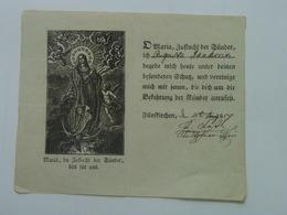 Holy Card 68 Santini Heilgenbild Holycard Images Pieuse Religieuse Image Epinal 1850 S. Maria Mary - Santini