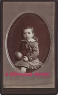 CDV  En 1875-petit Garçon Et Son Jouet Balle-photo Constant Peigné à Nantes - Photos