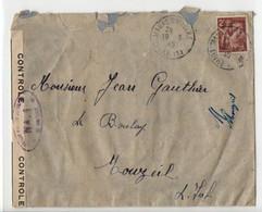 B12 19 03 1945 Lettre Censurée  France - Marcophilie (Lettres)