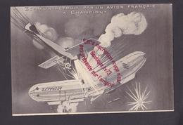 R1466 - Zeppelin Détruit Par Un Avion Français à CHAMPIGNY - Dirigeable - Airships