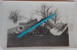 1914 1918 Mouscron Avion Anglais Abattu Aviation Raf Rnas Immat F855 Tranchée WW1 14 18 2 Cartes Photos - Guerre, Militaire