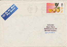 Brunei Cover Sent Air Mail To Denmark FAO Stamp (the Cover Is Bended) - Brunei (1984-...)