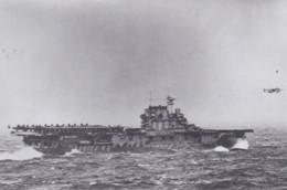 Military USS Hornet Launches B-25 On Doolittle Raid 18 April 1942 - Weltkrieg 1939-45
