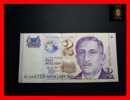 SINGAPORE 2 $  1999 P. 38  UNC - Singapour
