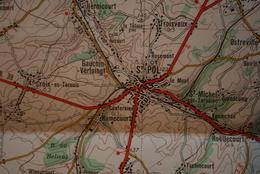 Carte IGN 1/100 000° ARRAS Feuille K3 Publiée 1955 (dont Lens, Béthune, La Bassée, Lillers, Annezin, St-Pol, Aubigny .. - Carte Topografiche
