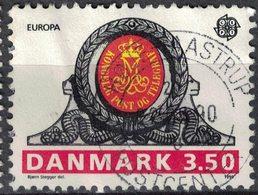 Danemark 1990 Oblitéré Used Monogramme Royal Sur La Porte Du Bureau De Poste De Haderslev SU - Dinamarca