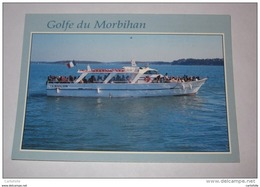 Cs17 -  Locmariaquer  Vedette A Passager Bateau Promenade   L'aiglon Tour Du Golfe Du Morbihan - Locmariaquer