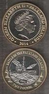 Falkland Islands - 2 Pounds 2014 UNC Comm. Bimetall Lemberg-Zp - Falkland
