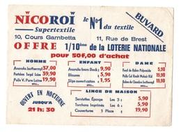 Buvard Nicoroi Supertextile Le N°1 Du Textile : Homme, Enfant, Dame Et Linge De Maison - Textile & Clothing