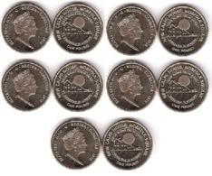 Gibraltar - 5 Pcs X 1 Pound 2018 UNC Comm. Lemberg-Zp - Gibraltar