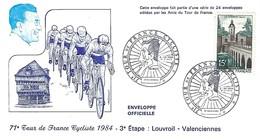 CYCLING - CYCLIME - RADSPORT - TOUR DE FRANCE - 2.7.1984 - 3ème Etape - Louvroil  -  Valenciennes - Cyclisme