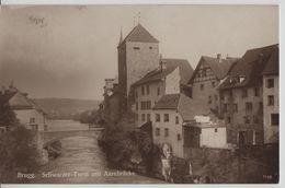 Brugg - Schwarzer Turm Mit Aarebrücke - AG Aargau