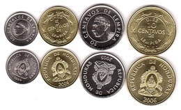 Honduras - Set 4 Coins 5 10 20 50 Cents 1999 - 2006 UNC / AUNC Lemberg-Zp - Honduras