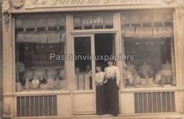 CARTE PHOTO PARIS 16e 1906 AU PALAIS DES DENTELLES (CLERET) 23 RUE VICTOR HUGO - Arrondissement: 16