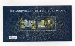 San Marino - 2013 - Foglietto 1700° Anniversario Dell'Editto Di Milano - 2 Valori - Nuovo ** - (FDC21883) - Blocs-feuillets