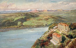 CT-0357- BRUNATE ( COMO ) 800 M.s.m. GRAND HOTEL - HOTEL MILAN - VIAGGIATA 1928 - Italia