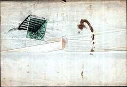 94298) ITALIA-STATO PONTIFICIO-LETTERA CON 1 BAJ Prima Emissione DA FERRARA AD ARGENTA IL 14-6-1853 - Stato Pontificio