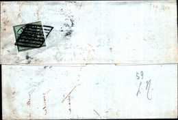 94299) ITALIA-STATO PONTIFICIO-LETTERA CON 1 BAJ Prima Emissione DA FERRARA AD ARGENTA IL 8-8-1856 - Stato Pontificio