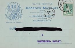 Braine-le-Comte Georges Massart Avocat Circulée En 1914 - Braine-le-Comte