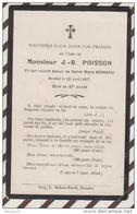 3AD948  IMAGE PIEUSE MORTUAIRE J B POISSON EPOUX DAME BESNARD 1907  2 SCANS - Images Religieuses