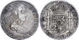 8 Reales, 1825, PTS JL, Ferdinand VII., KM 84, Kl. Kr., Ss.  Ss - Bolivia