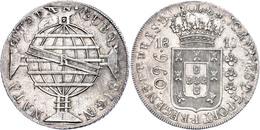 960 Reis, 1817, Überprägungsspuren, Kl. Rf., Vz.  Vz - Brasil