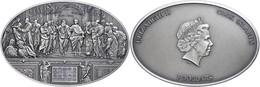5 Dollars, 2013, Ceilings Of Heaven, Raphael Room Nano, 999er Silber, Antik Finish, Stein, In Kapsel Mit Zertifikat, St. - Cookeilanden
