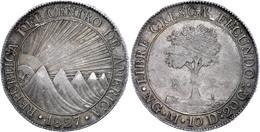 8 Reales, 1827, NG M, KM 4, Ss+. - Guatemala