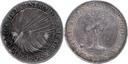 8 Reales, 1836, NG M, KM 4, Wz. Rf., Kräftige Dunkle Patina, Ss+. - Guatemala
