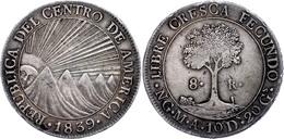 8 Reales, 1839, NG M A, KM 4, Kl. Rf. Und Schrötlingsfehler, Ss.  Ss - Guatemala
